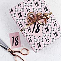 18th Gift Wrap - Wrapping Paper - Wrapping Paper Roll - Wrapping Paper Birthday - Wrapping Paper Sheets - Birthday - Milestone Birthday