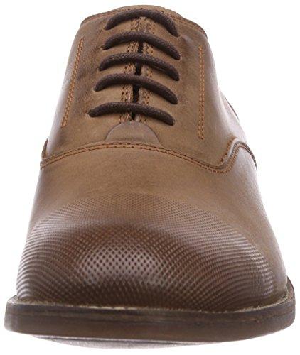Clarks Exton Oak Herren Derby Schnürhalbschuhe Braun (Tobacco Leather)