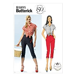 BUTTERICK PATTERNS B5895 Misses' Top and Jeans Sewing Templates, Size AX5