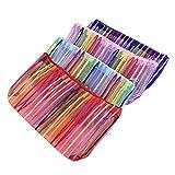 PandaHall 12pcs Mesh Multifunctional Zip Lock Makeup Bags Pouches,Mixed Color, 185x110x8mm