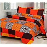 Fashion Hub Grace Cotton King Size Double Bedsheet, 1 Bedsheet And 2 Pillow Covers Tm