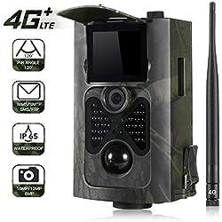 """Suntek 4G 3G Cámara de Caza Vigilancia 16MP, 1080P Trail Cámara IP65 Impermeable, IR Leds Visión Nocturna, 2.0"""" LCD Pantalla, 120° Sensor de Movimiento de hasta 30m"""