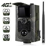SunTek 4G 3G Cámara de Caza Vigilancia 16MP, 1080P Trail Cámara IP65 Impermeable, 24 pcs IR Leds Visión Nocturna hasta 90pies, 2.0' LCD Pantalla, 120° Sensor de Movimiento de hasta 30m,HC550G