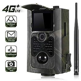 4G 3G 2G gsm Fotocamera da Caccia MMS 1080P 16MP 120°Ampia visuale MMS Fototrappola gsm 24 LEDs Hunting Trail Camera.550LTE