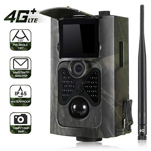 4G 3G Camera de Chasse GSM MMS 16MP 1080P Hunting Trail Camera avec 24 LEDs Vision Nocturne Infrarouge 65pieds.550LTE
