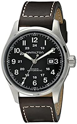 Hamilton Men's Analogue Automatic Watch with Leather Strap H70625533