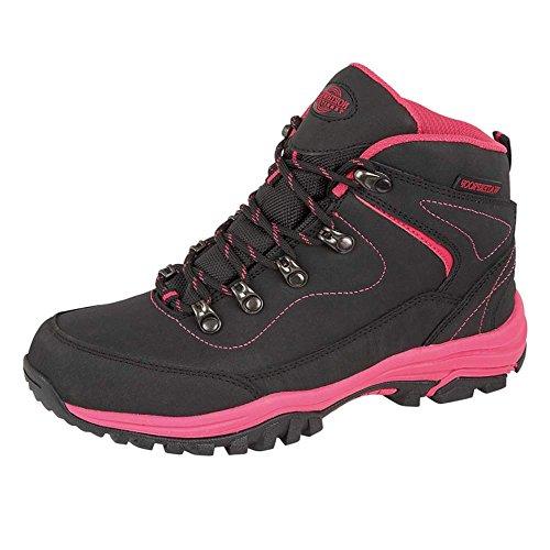 Northwest Territory , Chaussures de randonnée basses pour femme Noir / Fuchsia