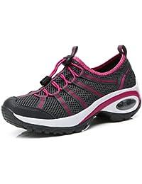 LILY999 Zapatillas de Deporte Running Para Mujer Gimnasia Ligero Trail Sneakers Fitness Plataforma