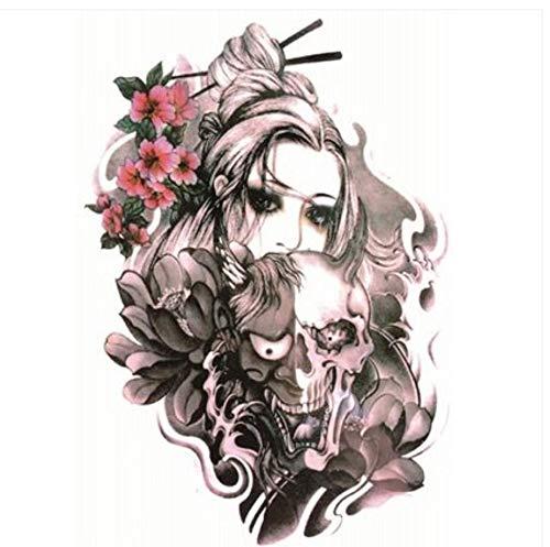 ruofengpuzi wasserdichte Tattoo Aufkleber Sakura Schönheit Wie Geisha Männer Und Frauen Korea Realistische Blume Arm Arm Simulation Tattoo Geisha Halloween-make-up
