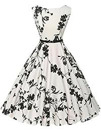 Yesmile Vestido de Mujer Vintage Falda Negro Vestido Elegante de Noche para