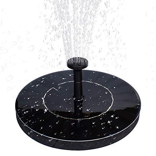 Pompa A Fontana Galleggiante Solare Con Batteria Di Ricambio - Pannello Per Fontana Solare Da Immersione Aggiornato Da 1,5 W Per Bagno Per Uccelli, Laghetto, Giardino E Prato