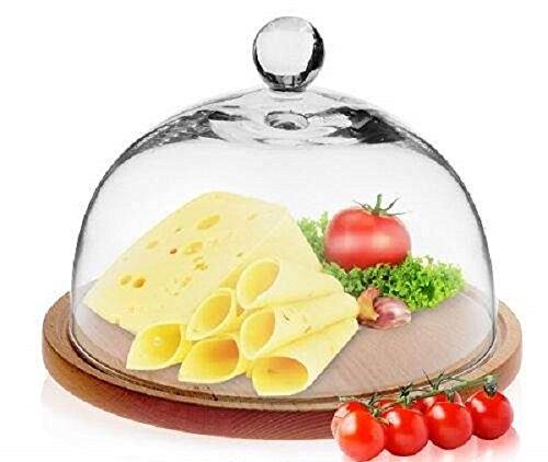 Fait à la main en verre gâteau de 21 cm à fromage dôme uniquement | Festive Lido Collection