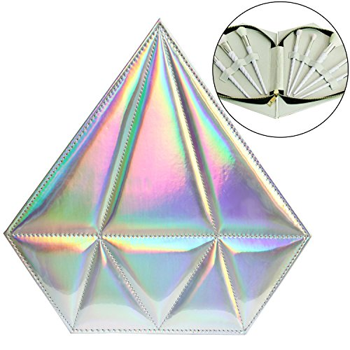 Sasairy Make Up Pinselset Tasche Form Diamant Pinsel Kosmetik Organizer