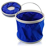 #5: 9L Portable Foldaway Water Bucket for Camping/Fishing/Boating (Random Color)