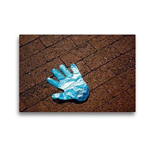 Calvendo Premium Textil-Leinwand 45 cm x 30 cm Quer, Ein Motiv aus Dem Kalender Handschuhe - Verloren - Vergessen | Wandbild, Bild auf Keilrahmen, Fertigbild Leinwand, Leinwanddruck Menschen Menschen