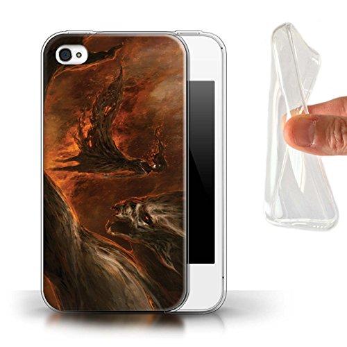 Offiziell Chris Cold Hülle / Gel TPU Case für Apple iPhone 4/4S / Pack 10pcs Muster / Dunkle Kunst Dämon Kollektion Der Anrufer