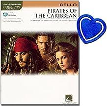 Pirates of the Caribbean–VIOLONCELLE Notes–16morceaux en le gleichnamigen großartigen Cinéma Blockbuster avec cœur Note Pince