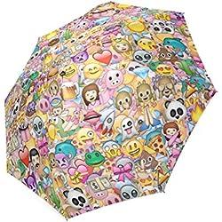 Personalizado Emoji 8costillas plegable impermeable paraguas