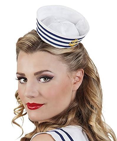 erdbeerclown - Matrosin Hut Kostüm Marine, Weiß (Deutschen Offizier Hut Kostüm)