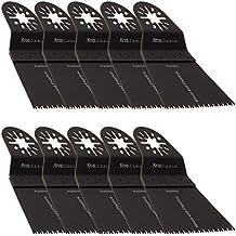 10 Bosch Multifunción Hoja de Sierra FEIN MultiMaster Precisión de 65mm para Madera, AEG Batavia Einhell Makita Milwaukee Skil WORX Sonicrafter de KROP
