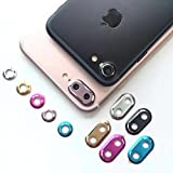 ZA eShop Rear Camera Lens Protector Metal Protective Ring Guard Circle Cover Case For Apple iPhone 7 Plus