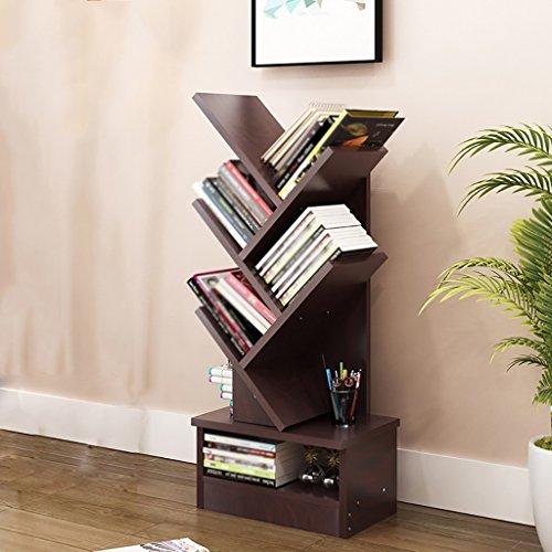 Bücherregal Floorstanding Creative Bücherregal Baum Multifunktions Kind ( Farbe : Black walnut , größe : 5-tier ) (5-tier-bücherregal)