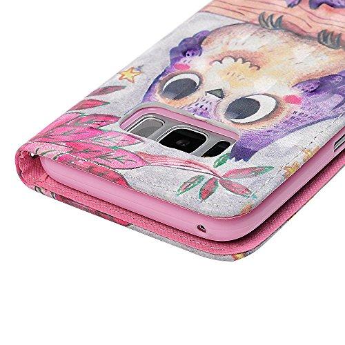 "MAXFE.CO Lederhülle Case Schutz für iPhone 7 Plus 5.5"" PU Leder + TPU Innere Etui Schale Backcover Brieftasche 3D Design Flip Cover mit Kartenfächer Magnetverschluß Standfunktion Eule Schmetterling"