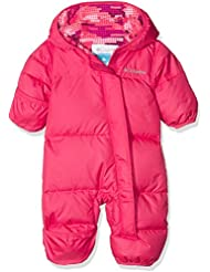 Columbia Snuggly Bunny Bunting - Traje de nieve para bebé, color Punch Pink, Punch Pink Dot, tamaño 3/6
