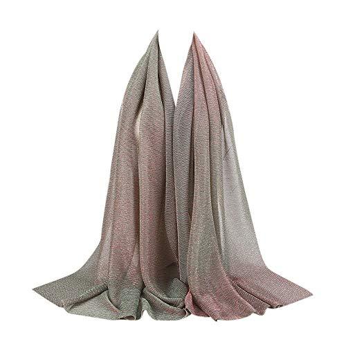 Lazzboy Frauen Premium Viskose Maxi Crinkle Cloud Hijab Schal Soft Islam Muslim Kopftuch Für Muslimische I Islamische Kopfbedeckung Solide Weiche(U)