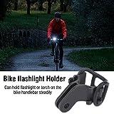 Acogedor bici torcia elettrica LED Torch Mount Holder, ciclismo, con morsetto, luce staffa porta torcia