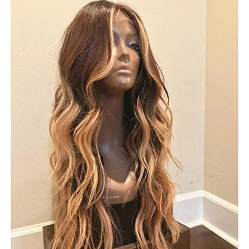 HotQueen Ombre Honey Blonde Full Lace Front Wig 100% Brazilian Virgin Human Hair Wig Lace Front Full Lace Wig