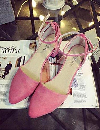 WSS 2016 Chaussures Femme-Habillé / Soirée & Evénement-Noir / Rose-Gros Talon-Talons-Talons-Synthétique fuchsia-us9 / eu40 / uk7 / cn41