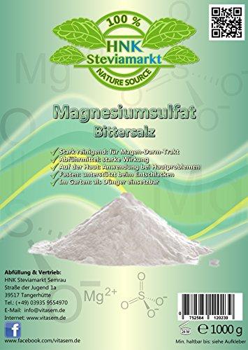 Sales Epsom - sulfato magnesio 1 kg - ayuda natural
