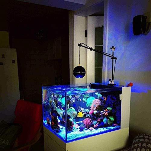 Wasserpflanzenbeleuchtung LED Aquarium Vollspektrum Funksteuerung Korallenriff SPS LPS Nano Aquarium Für Aquarium (Color : UK Plug)