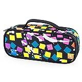Multifunktionsreißverschlusstasche, Oxford-Tuch Studenten-Bleistift-Kasten-Feder-Beutel empfangen Handbeutel, Verfassungs-Fall-Kosmetik-Tasche, schwarzes Gitter
