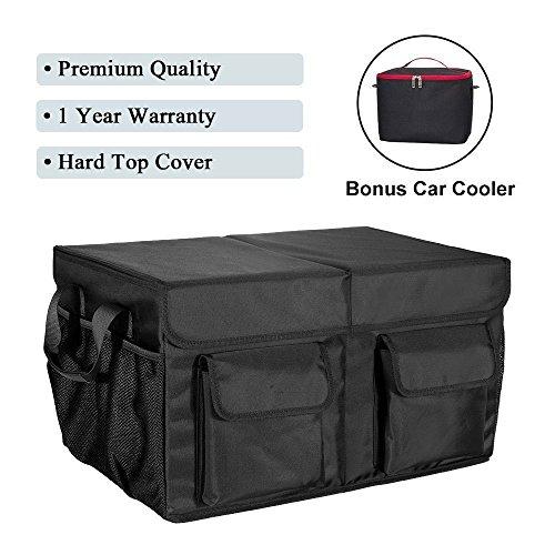 MIU COLOR Autotasche Kofferraum Organizer Nylon faltbare Design Aluminium für Auto (groß mit Deckel)