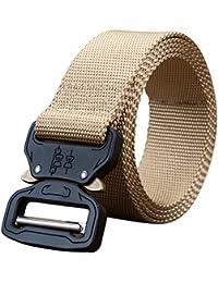 Mlec Tech 1PC 125CM Outdoor Sports Nylon Belt Unisex Buckle Training Belt for Running Mountaineering Hiking