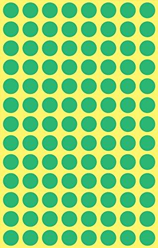 Avery Round Labels, Green Ø 8 - Etiqueta autoadhesiva (Green Ø 8)
