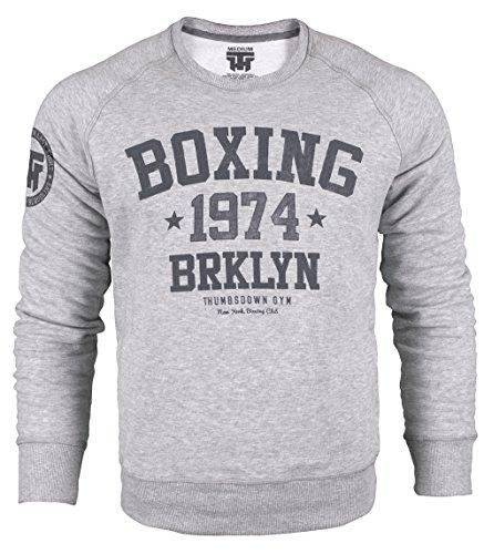 Boxing 1974 Brklyn Crewneck Sweatshirt. Thumbsdown Gym. New York Brooklyn Club. Thumbsdown Last Fight. Kampfsport Kleidung. Fightwear. Training. Casual. Gym. MMA Hoodie(Größe Large)