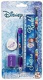 Diseny Frozen - Schreib Set Schreibset 5 Teile- bestehend aus Bleistift, Kugelschreiber, Lineal, Anspitzer, Radiergummi - tolles Geschenk für den Schulanfang - zum Befüllen der Schultüte