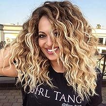 DANTB 2018 Celebrity Wigs Parrucche Per Capelli Biondi Con Sfumatura  Radicata Per Ragazze Alla Moda 0f18fd146522