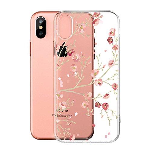 Per iPhone X Cover , YIGA Moda palloncino unicorno Cristallo Trasparente Silicone Morbido TPU Case Protezione Custodia per Apple iPhone X (5,8 pollici) WM84