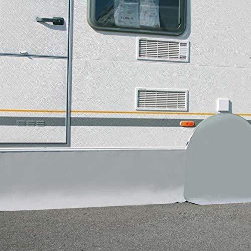 Berger Wagenschürze Wohnwagen grau, Länge 420 cm, Höhe 50 cm