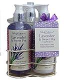 Parfumes Best Deals - Cuerpo Colección Lavender & guisante de olor Aroma Trio Parfume Set de regalo
