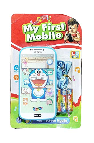 Shreeji Digital Mobile Phone with Touch Screen Feature, Amazing Sound and Light Toy (DOREMON)