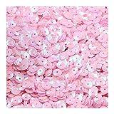 JUNGEN Glitter Paillettes Paillettes Coriandoli Brillanti con Paillettes da tavola Rotonda per Artigianato di Fai-da-Te (Rosa Chiaro)