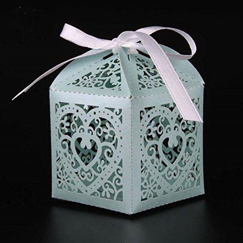 z Candy Box Hochzeit Box Hochzeit Party Favor Box Geschenk-Box Baby Dusche Hochzeit Deko Party Supplies tiffany blue ()