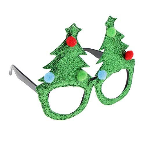 B Baosity Occhiali per Adulti Bambini da Babbo Natale Maschera Vestito da Partito Regalo - Verde, Come descritto