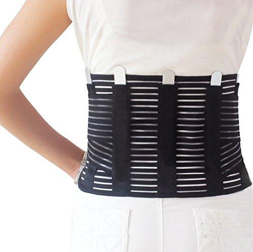 Urvoix inferiore per schiena, traspirante della cintura di sostegno lombare proteggere in vita regolabile con cinghia elastica