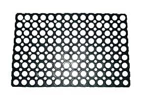 Ritika Carpets Rubber MediumBlack Door Mat